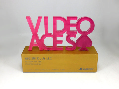 Video Aces Acrylic and Aluminium Award Bespoke Mixed Media Awards Creative Awards