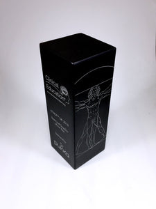 Vitruvian Man on Black Aluminium Block Bespoke Metal Award Creative Awards