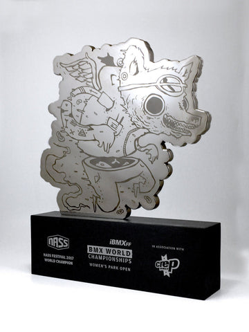 Acrylic and Aluminium Wolf Award Bespoke Mixed Media Awards Creative Awards