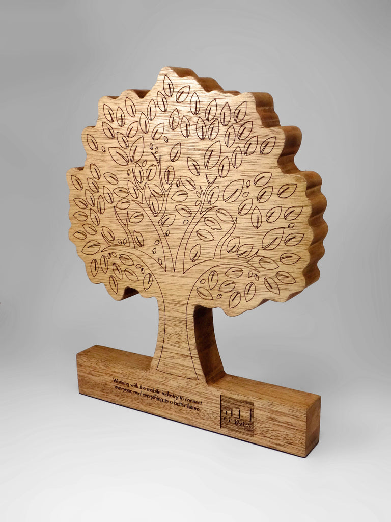 Paper Tree Award Bespoke Wooden Awards Creative Awards