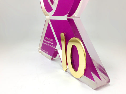 Pink X Award Bespoke Mixed Media Awards Creative Awards