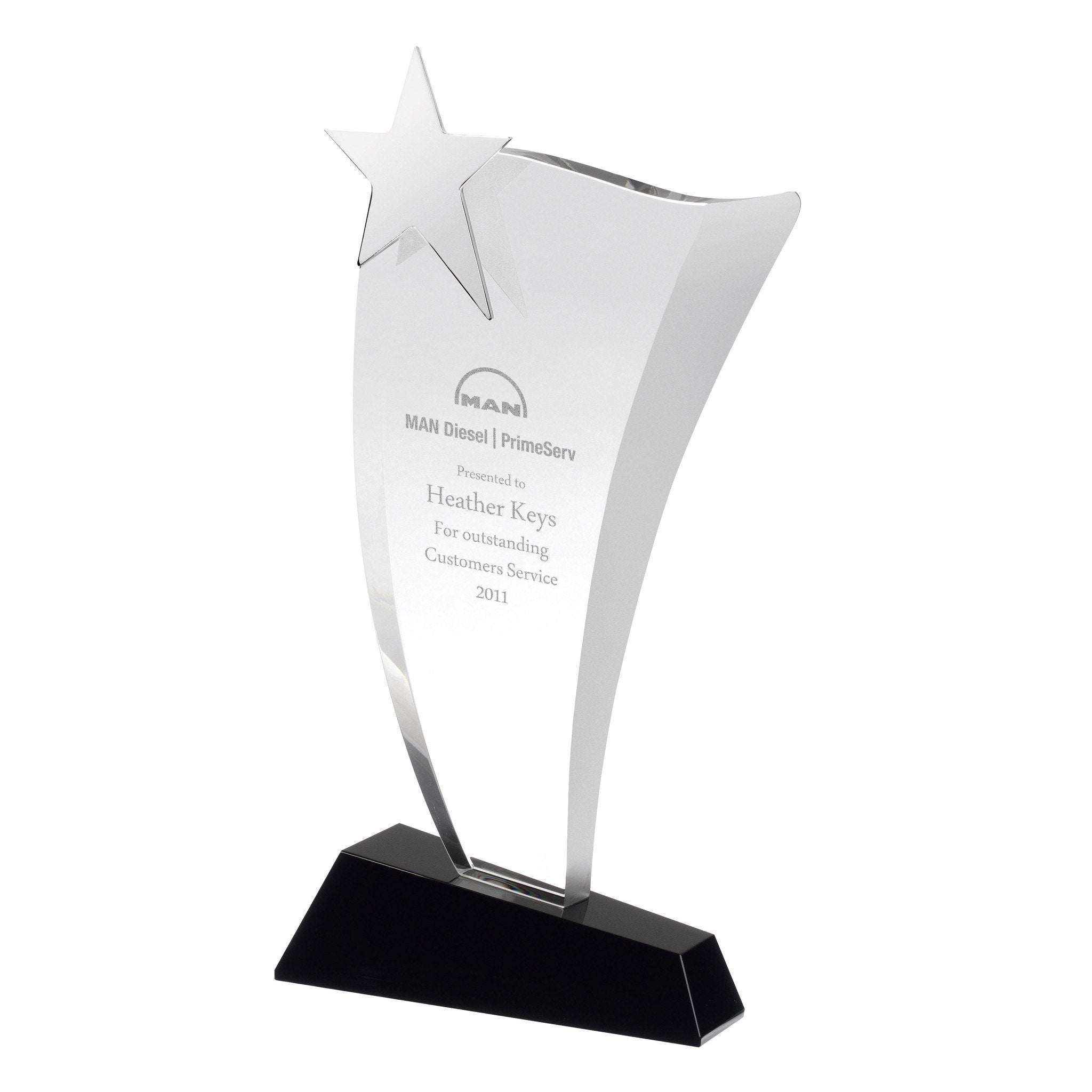 Swoop with Star Award Bespoke Acrylic Awards Creative Awards
