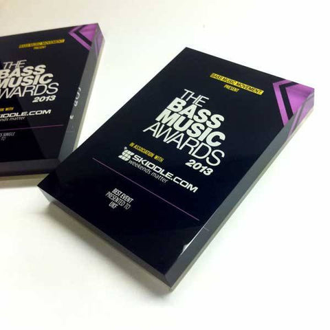 The Bass Music Award Bespoke Acrylic Awards Creative Awards