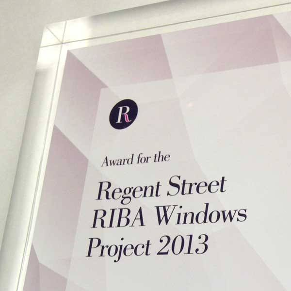 RIBA Windows Project Award Bespoke Acrylic Awards Creative Awards