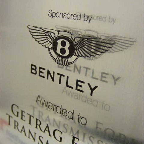 Bentley Award Plaque Bespoke Wall Plaques Creative Awards