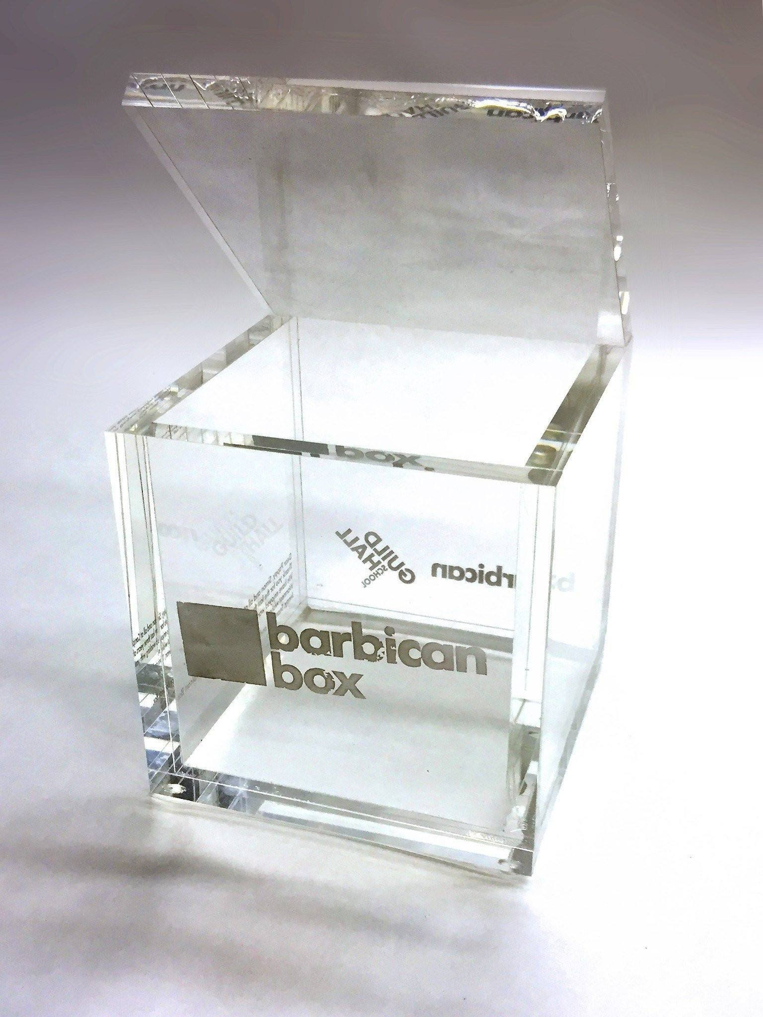 Barbican Box Bespoke Acrylic Awards Creative Awards