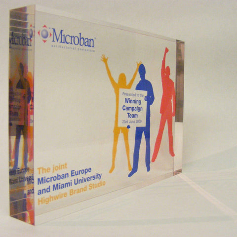 Bespoke Acrylic Awards - Microban Award