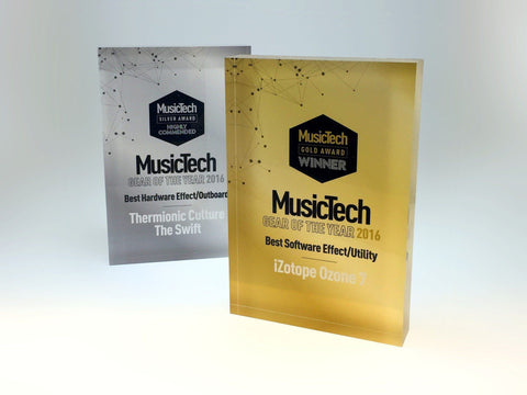 Music Tech Acrylic Awards Bespoke Acrylic Awards Creative Awards