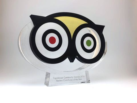 Bespoke Acrylic Awards - Trip Advisor Awards