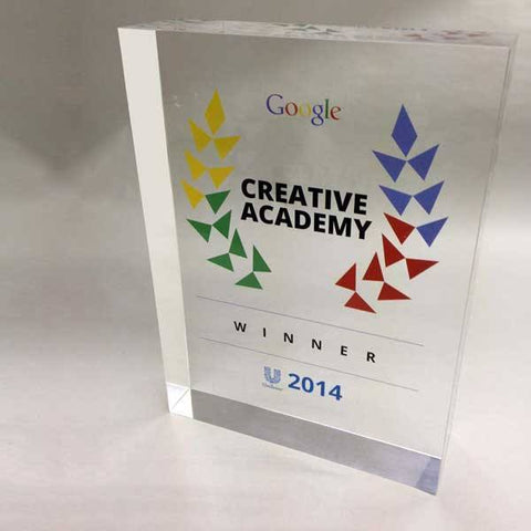 Medium shot of the Google Creative Academy award