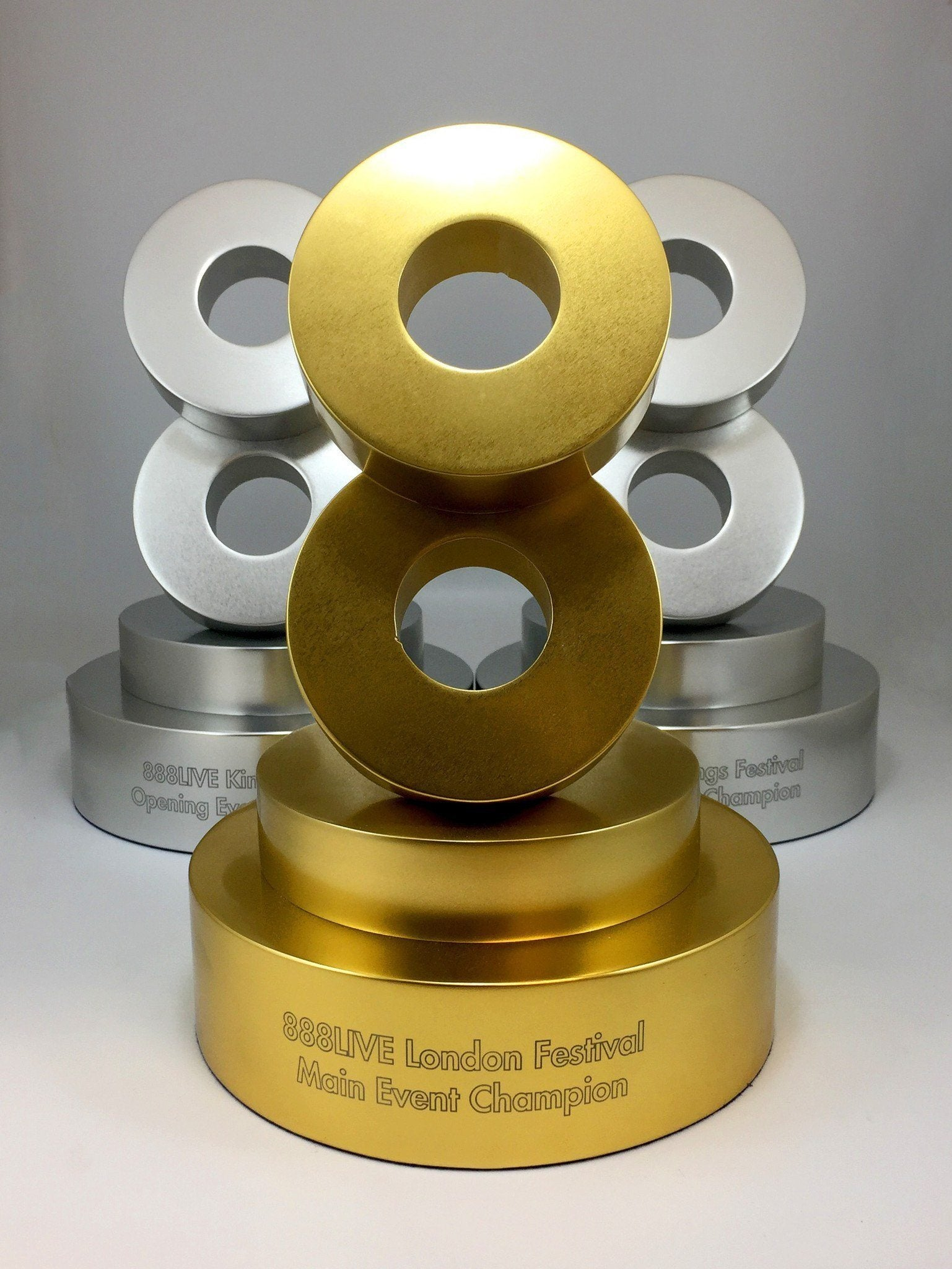 Eight Aluminium Ring Award Bespoke Metal Award Creative Awards