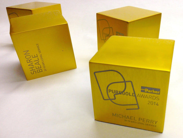 Gold Recognition Ingot Awards Bespoke Metal Award Creative Awards