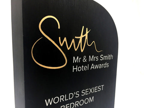 Mr and Mrs Smith Hotel Awards Bespoke Metal Award Creative Awards