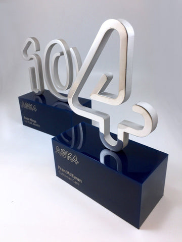 10 & 4 Aluminium and Acrylic Awards Bespoke Mixed Media Awards Creative Awards