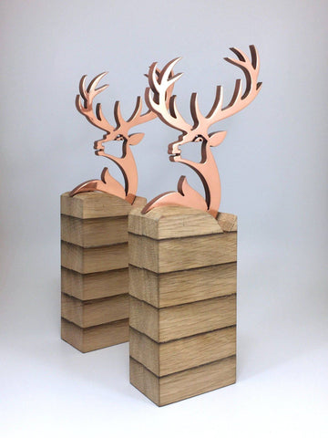 Copper Stag Award Bespoke Mixed Media Awards Creative Awards