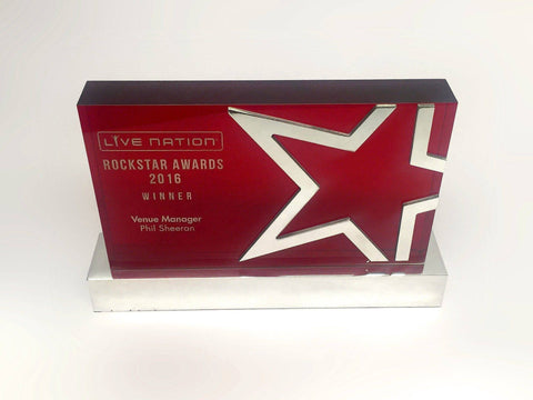 Bespoke Mixed Media Awards - Rockstar Acrylic Award