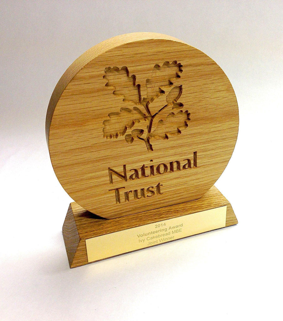 Bespoke Wooden Awards - National Trust Award