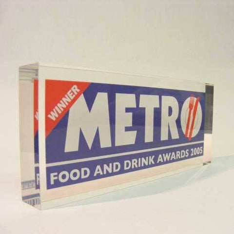 Metro Award Bespoke Acrylic Awards Creative Awards