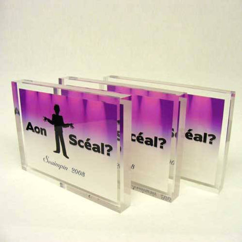 Aon Sceal Acrylic Award Bespoke Acrylic Awards Creative Awards