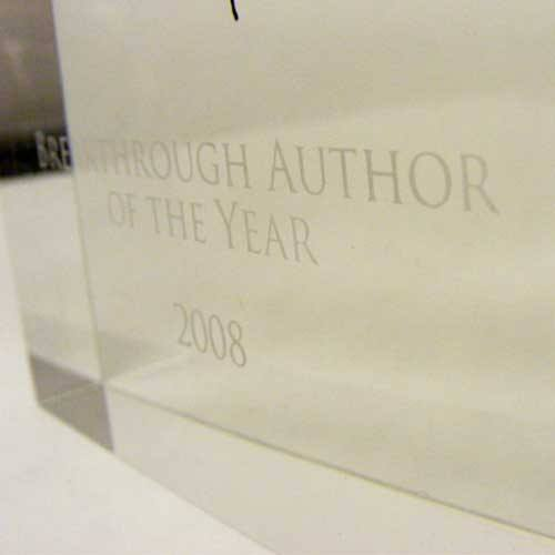Crime Thriller Award Bespoke Acrylic Awards Creative Awards