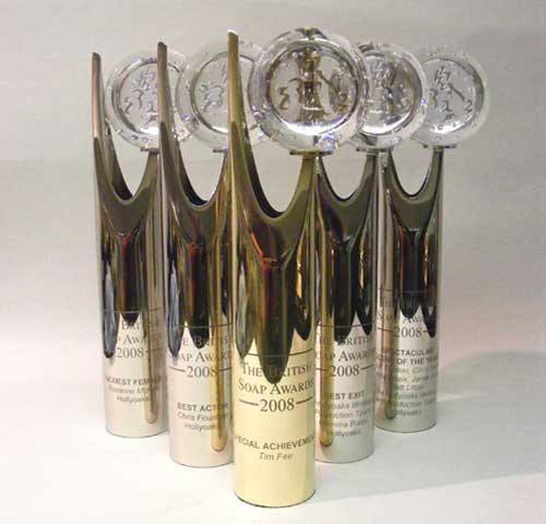 British Soap Metal and Glass Awards Bespoke Mixed Media Awards Creative Awards
