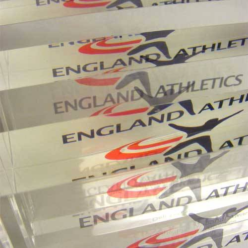 England Athletics Award Bespoke Acrylic Awards Creative Awards