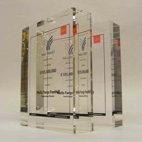 Wall Street Award Bespoke Acrylic Awards Creative Awards