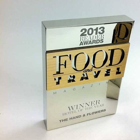 Food and Travel Awards Bespoke Metal Award Creative Awards