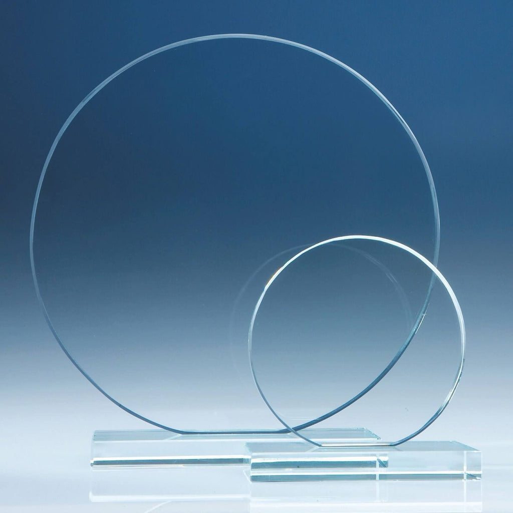 Glass Awards - Clear Glass Circle Award