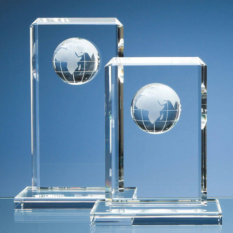 Crystal Globe Rectangle Award