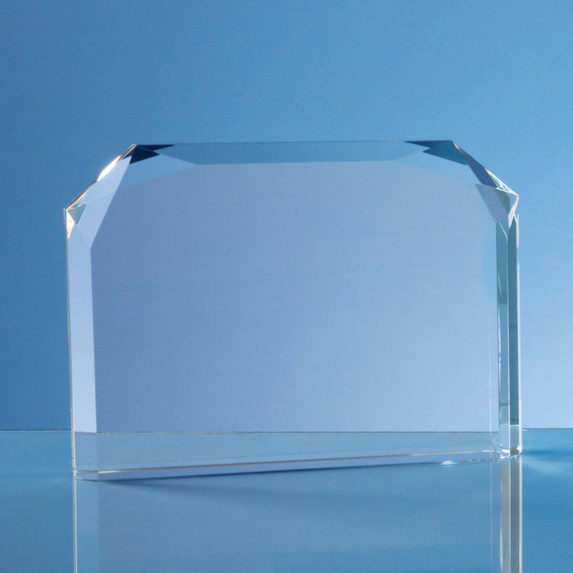 Horizontal Facet Rectangle Award Glass Awards Creative Awards
