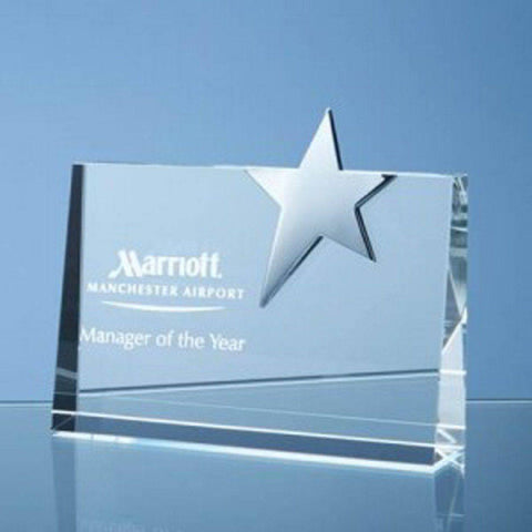 Horizontal Rectangle with Silver Star Award