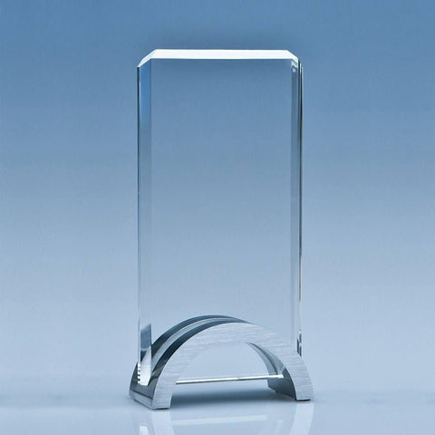 Rectangle Mounted on Aluminium Stand Award