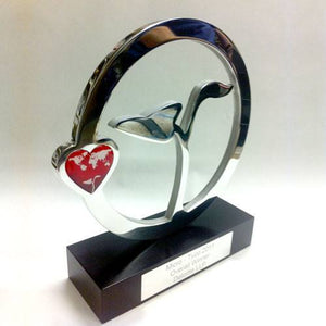 Heart and Seedling Award Bespoke Metal Award Creative Awards