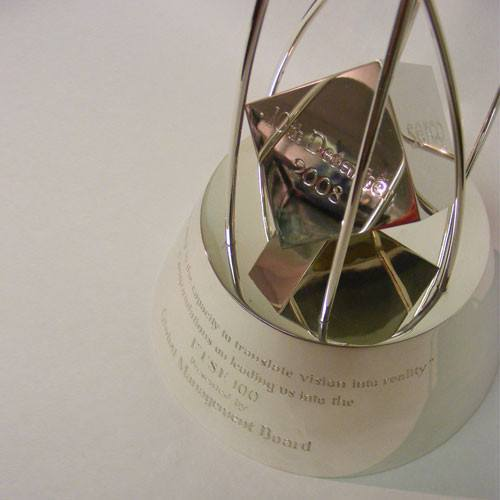 Silver FTSE 100 Award Bespoke Metal Award Creative Awards