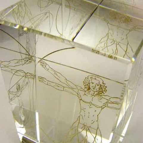 Vitruvian Man Award Glass Awards Creative Awards