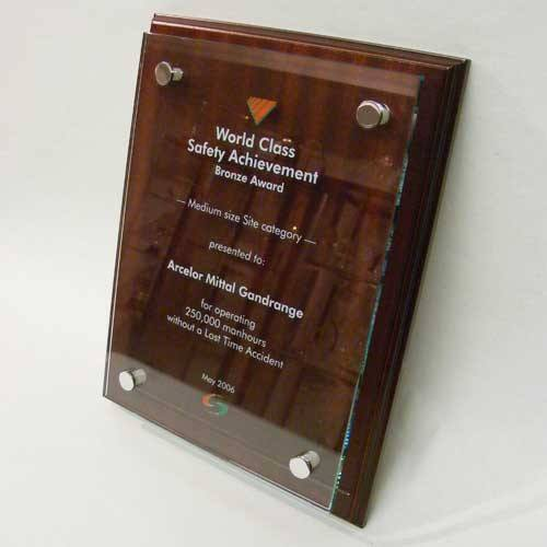 Mahogany Wall Plaque Bespoke Wall Plaques Creative Awards