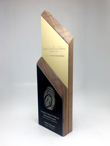Side view custom award by Creative Awards