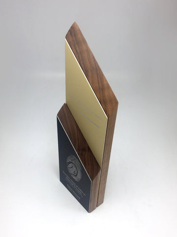 Layered Wood and Aluminium Award Bespoke Mixed Media Awards Creative Awards
