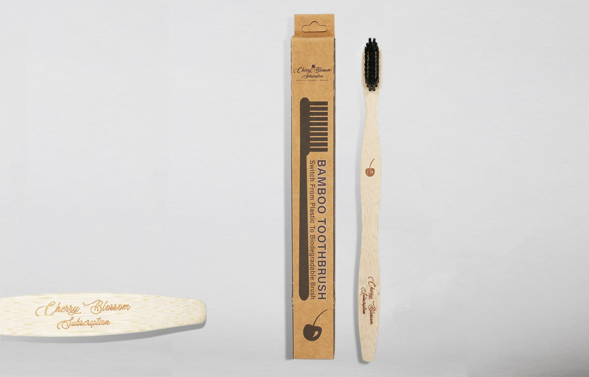 Organic Bamboo Toothbrush - Cherry Blossom Subscription
