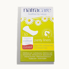 *Natracare, Organic & Natural Panty Liners, Curved, 30 Liners(2 boxes Qty)