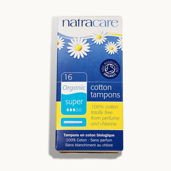 Natracare Natural Organic Cotton Tampons, Super, 16 Ct - Cherry Blossom Subscription