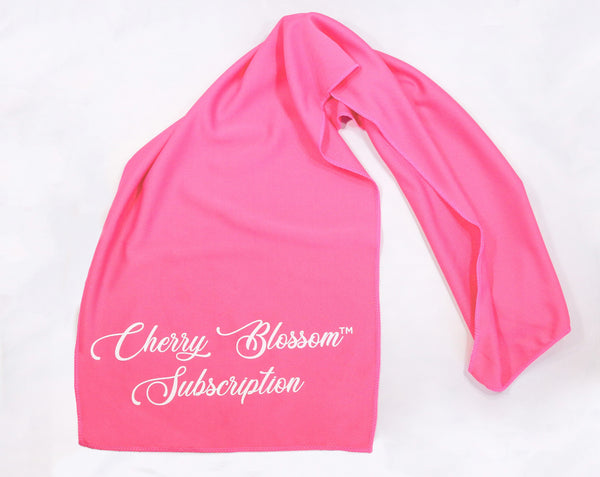 Wet, Wring, and Wear Cooling Towel - Cherry Blossom Subscription