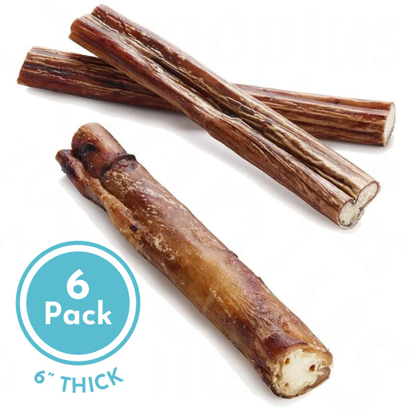 "6"" THICK All Natural Bully Sticks"