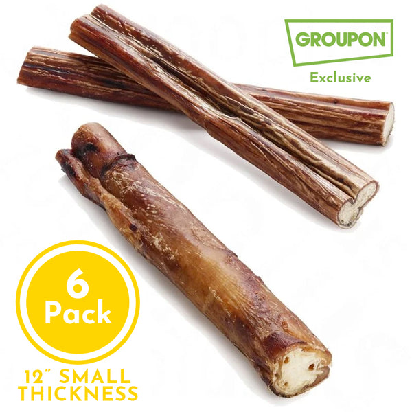 (6) Pack of 12 inch Small Thickness (Large Dog Size)
