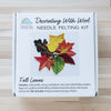 Fall Leaves Needle Felting Kit