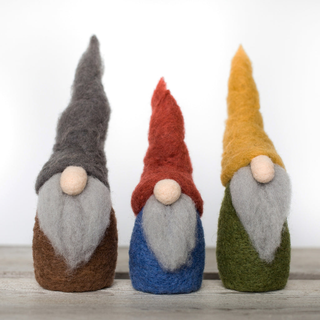Needle Felted Wool Gnome