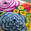 Happy Flowers Pillow Cover Needle Felting Kit