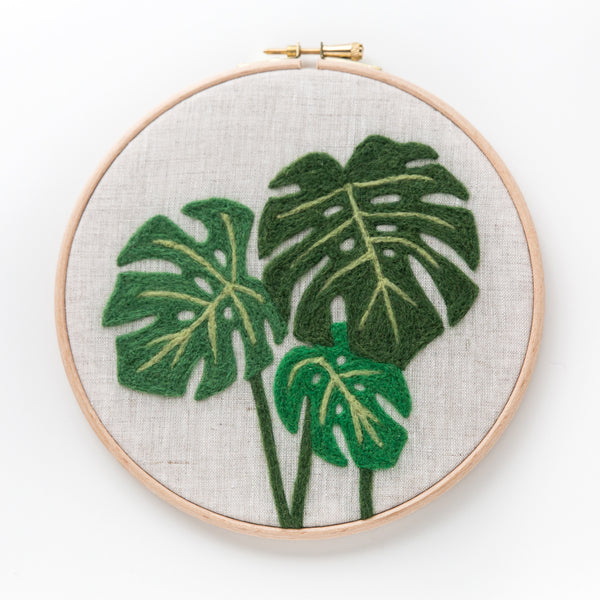 Monstera Needle Felting Kit