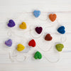 Rainbow Heart Garland Needle Felting Kit